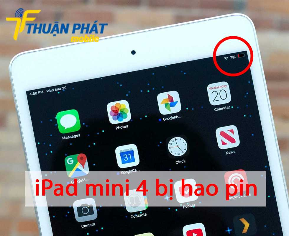 iPad mini 4 bị hao pin