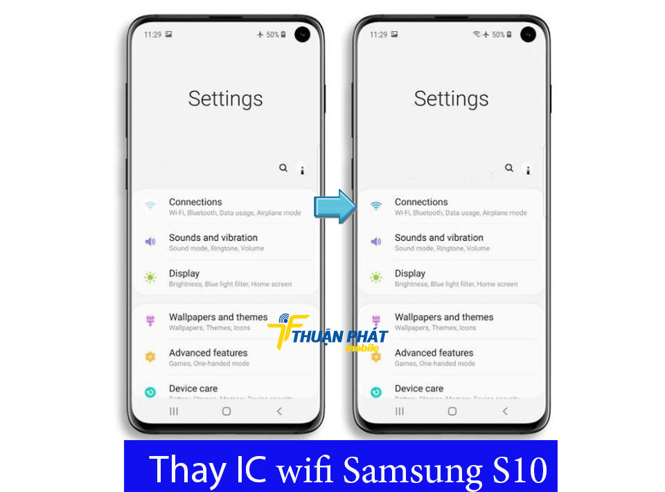 Thay IC wifi Samsung S10