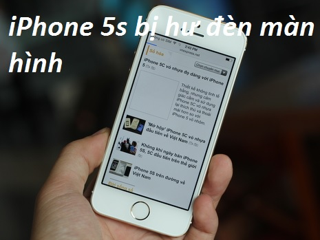 iphone 5s bi hu dan man hinh