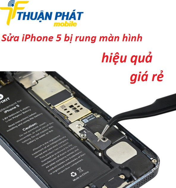 sua iphone 5 bi rung man hinh