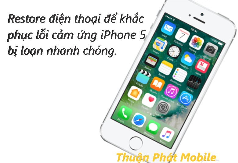 sua loi cam ung iphone 5 bi loan