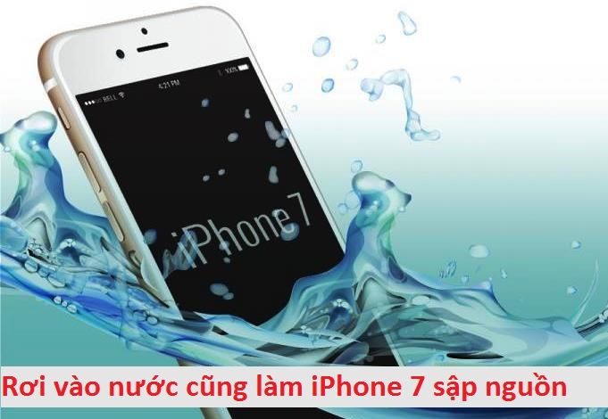 iphone 7 mat nguon do vao nuoc