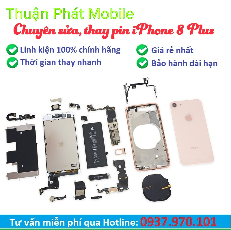 thay pin iphone 8 plus chinh hang