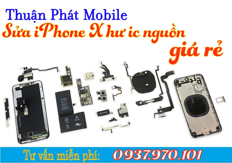 sua iphone x hu ic nguon